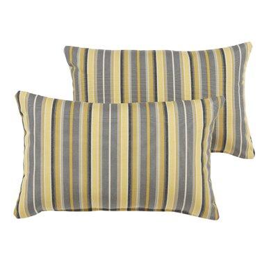 Delacruz Sunbrella Knife Edge Lumbar Pillow Set