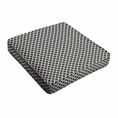 Kaelyn II Geometric Piped Indoor/Outdoor Dining Chair Cushion Size: 3 H x 19 W x 19 D