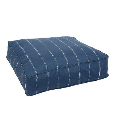 Balentine Corded Edge Indoor/Outdoor Floor Pillow Color: Navy