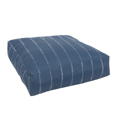 Balentine Knifed Edge Indoor/Outdoor Floor Pillow Color: Navy