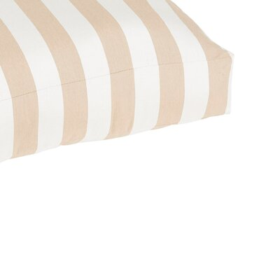 Lancashire Indoor/Outdoor Euro Pillow Color: Beige/White