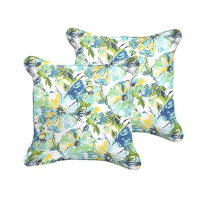 Alsace Penelope Indoor/Outdoor Throw Pillow Size: 22 W x 22 D
