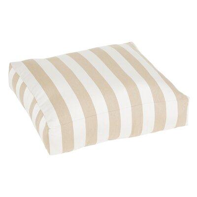 Regent Indoor/Outdoor Euro Pillow Color: Beige/White