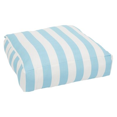 Lancashire Indoor/Outdoor Euro Pillow Color: Aqua/White