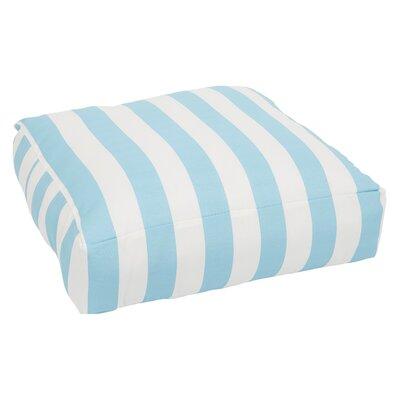 Regent Indoor/Outdoor Euro Pillow Color: Aqua/White
