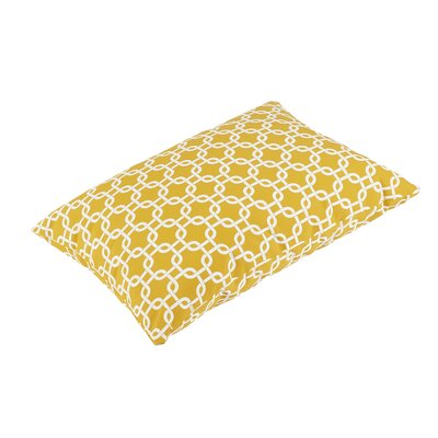 Replogle Knife Edge Indoor/Outdoor Rectangular Floor Pillow Color: Yellow/White