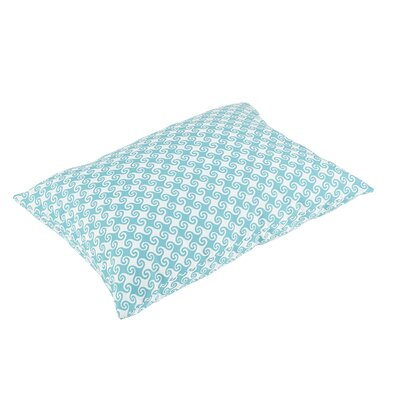 Estelle Knife Edge Indoor/Outdoor Floor Pillow Color: Aqua/White