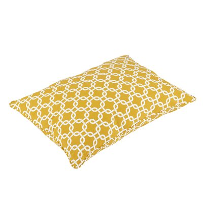 Replogle Piped Edge Indoor/Outdoor Floor Pillow Color: Yellow/White