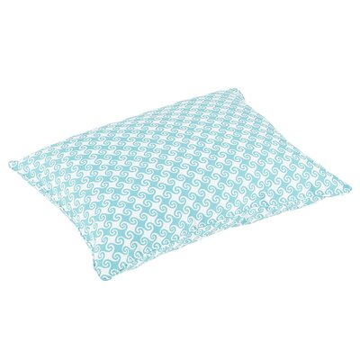 Estelle Piped Edge Indoor/Outdoor Floor Pillow Color: Aqua/White
