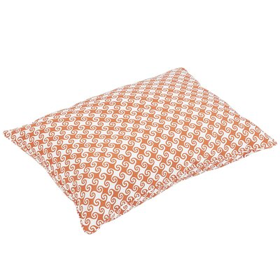 Estelle Piped Edge Indoor/Outdoor Floor Pillow Color: Orange/White