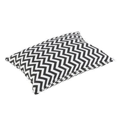 Altieri Piped Edge Indoor/Outdoor Floor Pillow Color: Black/White