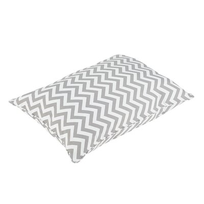 Altieri Piped Edge Indoor/Outdoor Floor Pillow Color: Gray/White