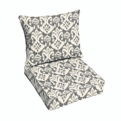 Peabody Outdoor Lounge Chair Cushion Fabric: Gray/Cream