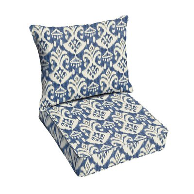Peabody Outdoor Lounge Chair Cushion Fabric: Indigo/Blue