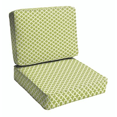 2 Piece Geometric Outdoor Lounge Chair Cushion Set