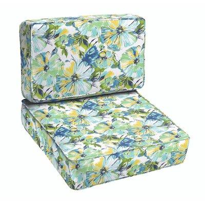 Tara 2 Piece Floral Outdoor Lounge Chair Cushion Set