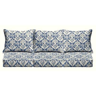 Villalpando 6 Piece Sofa Outdoor Cushion Set Fabric: Indigo