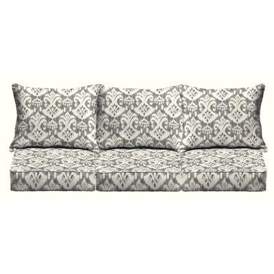 Peabody 6 Piece Sofa Outdoor Cushion Set Fabric: Graphite