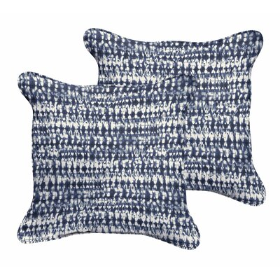 Demers Graphic Indoor/Outdoor Throw Pillow Size: 18 H x 18 W x 6 D