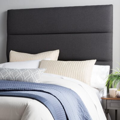 Lytle Upholstered Panel Headboard Size: King, Upholstery: Charcoal Gray