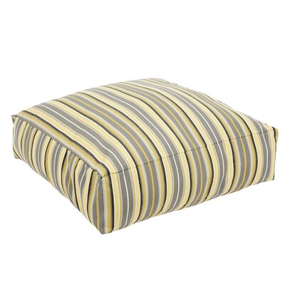 Delacruz Striped Sunbrella Knife Edge Square Euro Pillow