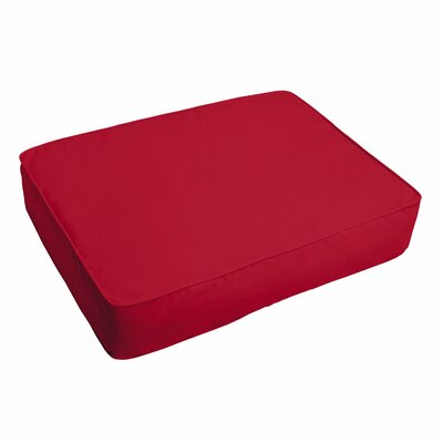 Crimson Outdoor Ottoman Cushion