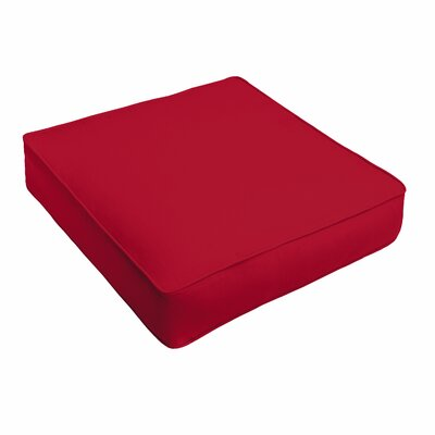 Outdoor Sunbrella Ottoman Cushion Color: Sunbrella Canvas Jockey Red