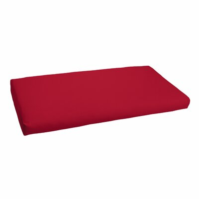 Outdoor Sunbrella Bench Cushion Fabric: Sunbrella Canvas Jockey Red