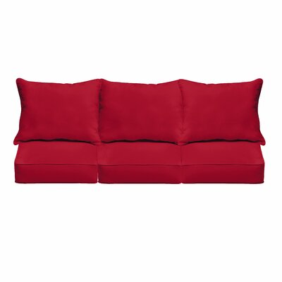 Outdoor Sunbrella Sofa Cushion Fabric: Canvas Jockey Red