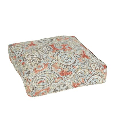 Lebaron Paisley Piped Outdoor Floor Pillow