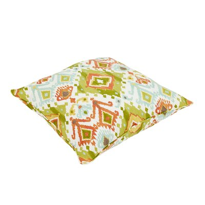 Fealty Ikat Piped Outdoor Floor Pillow