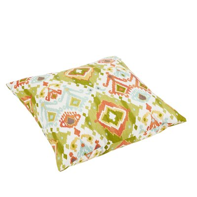 Fealty Ikat Knife Edge Outdoor Floor Pillow