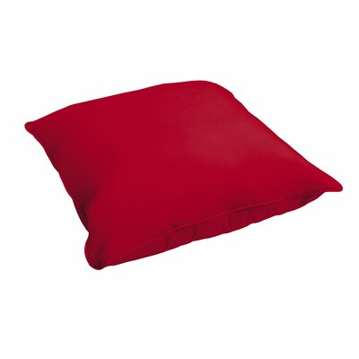 Elkland Crimson Piped Floor Pillow