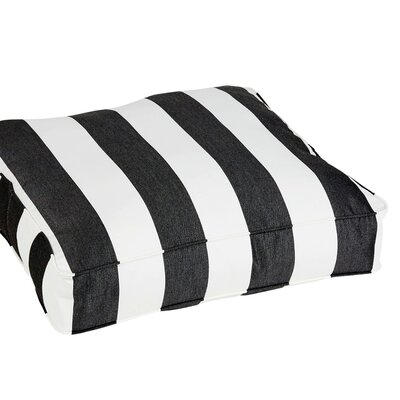 Damron Classic Square Indoor/Outdoor Floor Pillow Color: Light Black/White