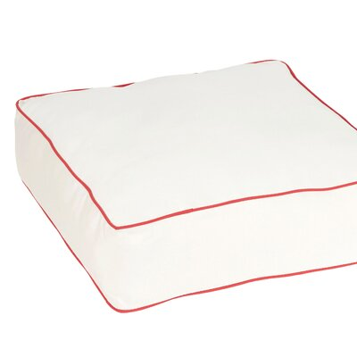 Caravel Square Indoor/Outdoor Floor Pillow Color: White/Red