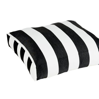 Damron Classic Square Indoor/ Outdoor Floor Pillow Color: Black/White