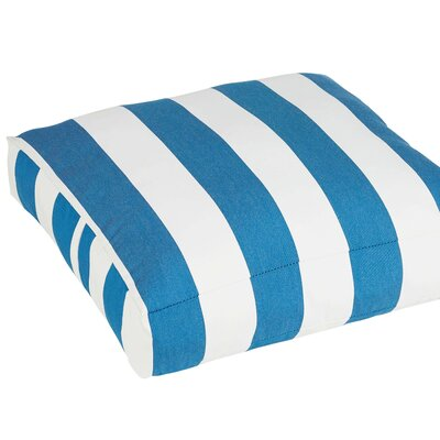 Damron Classic Square Indoor/Outdoor Floor Pillow Color: Blue/White