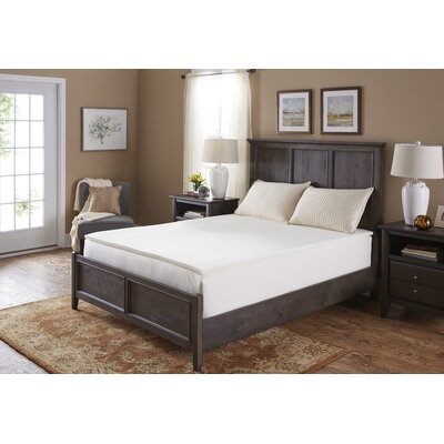 1 Memory Foam Mattress Topper Bed Size: King
