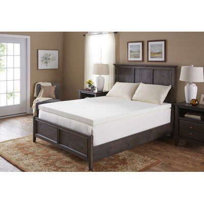 3 Memory Foam Mattress Topper Bed Size: Full