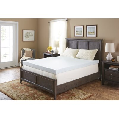 4 Gel Memory Foam Mattress Topper Bed Size: Full