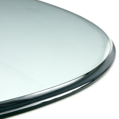 Round Glass Indoor Table Top Size: 24L x 24W