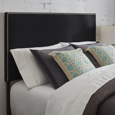Kimmell Upholstered Panel Headboard Size: King, Color: Black