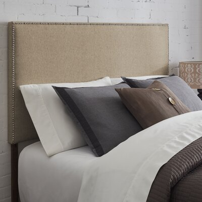 Kimmell Upholstered Panel Headboard Size: King, Color: Brown