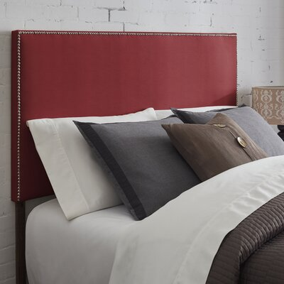 Kimmell Upholstered Panel Headboard Size: King, Color: Burgundy