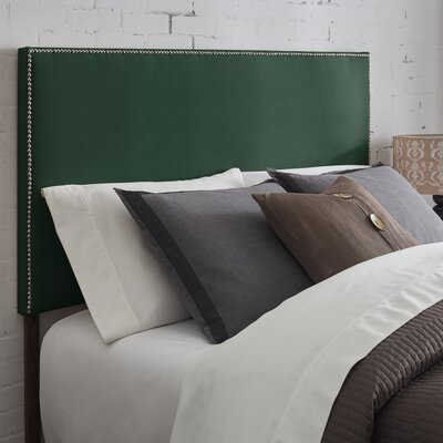 Kimmell Upholstered Panel Headboard Size: Full, Color: Green