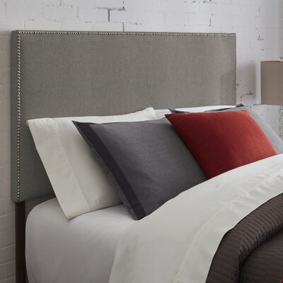 Kimmell Upholstered Panel Headboard Size: Queen, Color: Gray