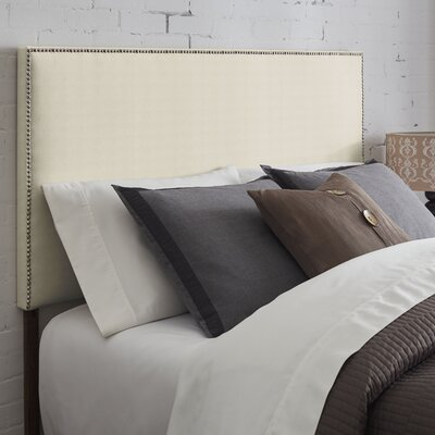 Kimmell Upholstered Panel Headboard Size: Full, Color: Textured Ivory