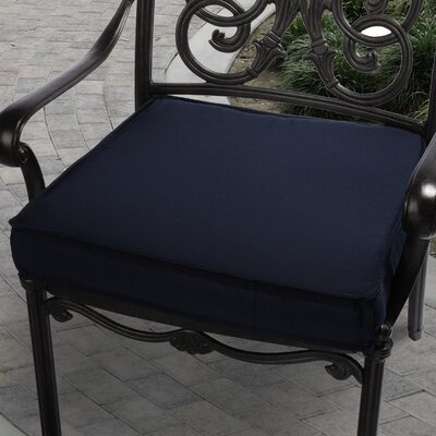 "Mozaic Company Sunbrella Outdoor Chair Cushion - Size: 20"", Color: Navy Blue at Sears.com"