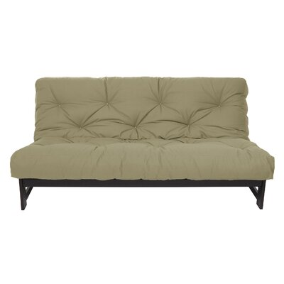 Dual 8 Memory Foam Futon Mattress Size: Full, Color: Khaki