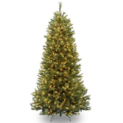 Rocky Ridge 7.5' Green Slim Pine Artificial Christmas Tree with 600 Clear Lights and Stand